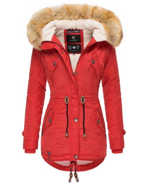 La Viva Navahoo Damen Wintermantel Red