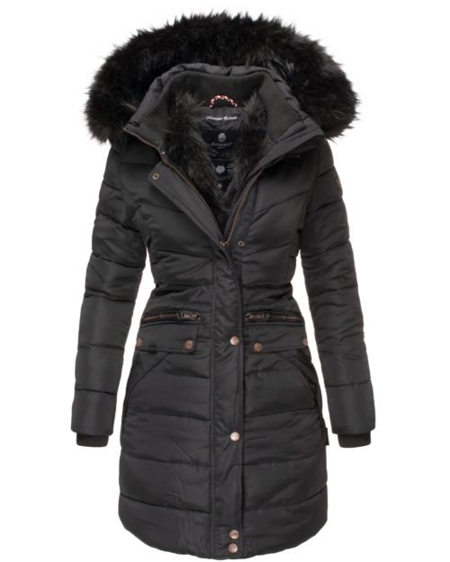 Paula Navahoo Damen Wintermantel Black