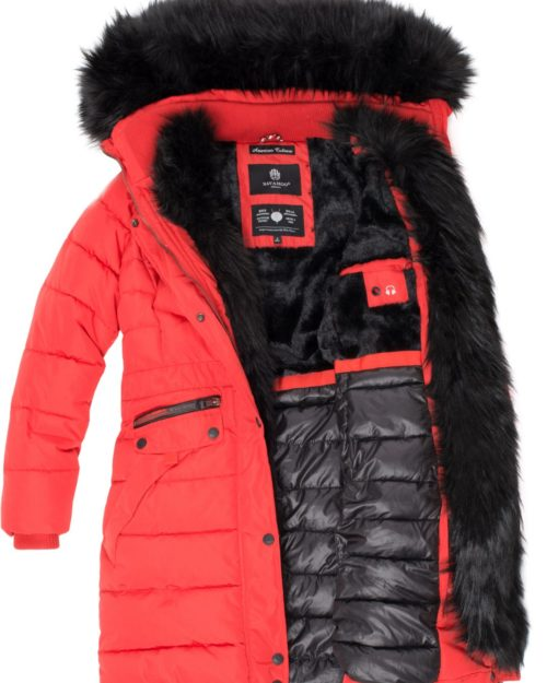 Paula Navahoo Damen Wintermantel Red