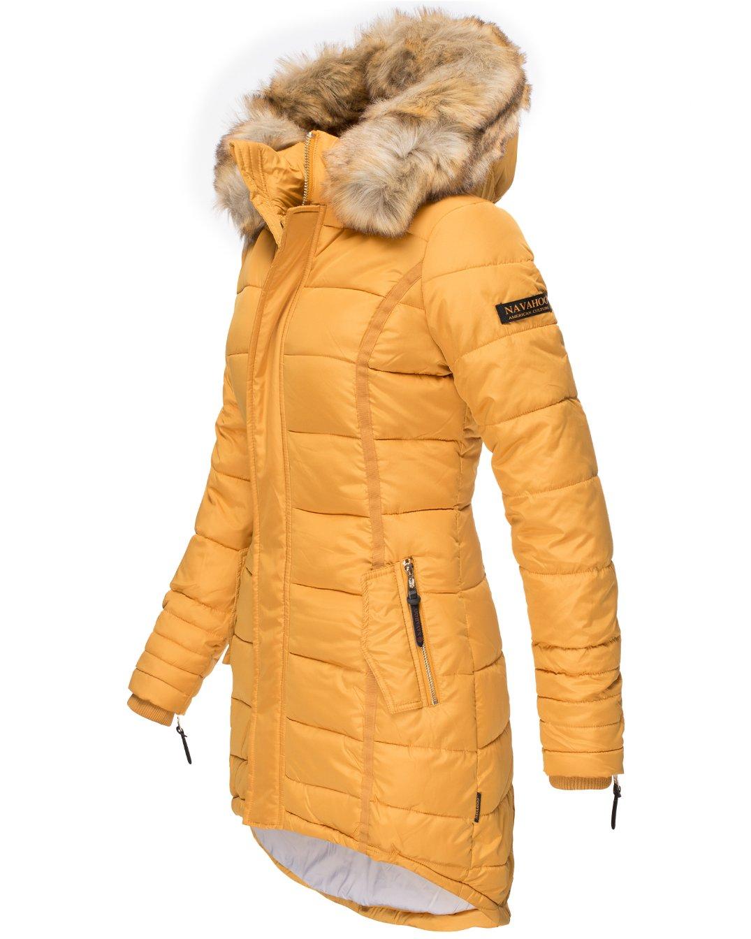 Papaya Navahoo Damen Wintermantel Gelb