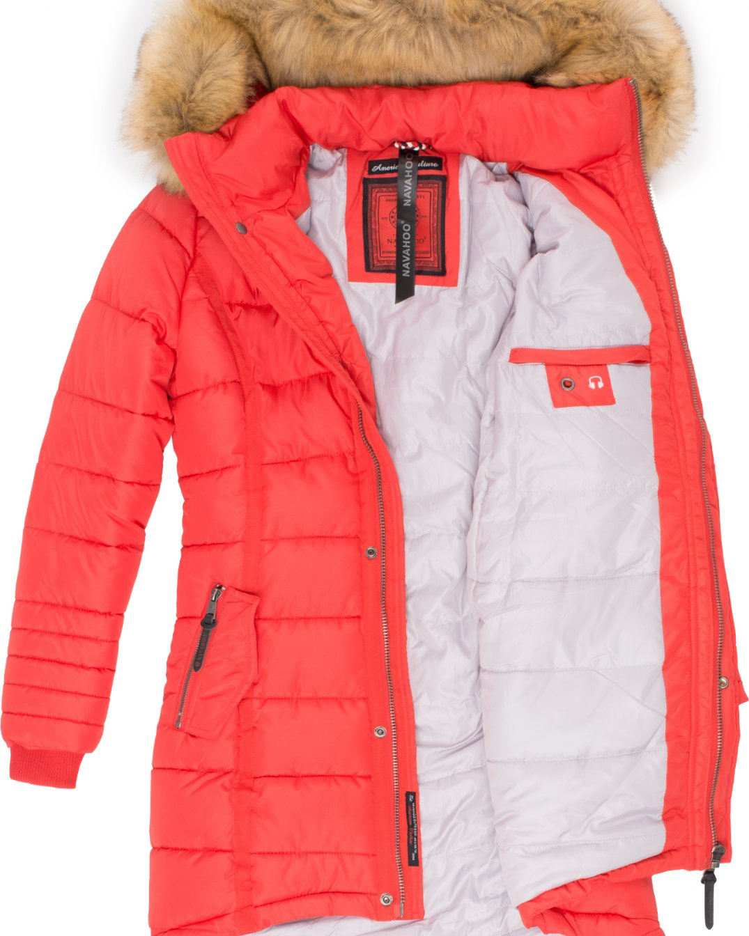 Papaya Navahoo Damen Wintermantel Red